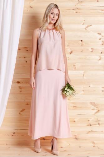 Spódnica Tosca długa różowa