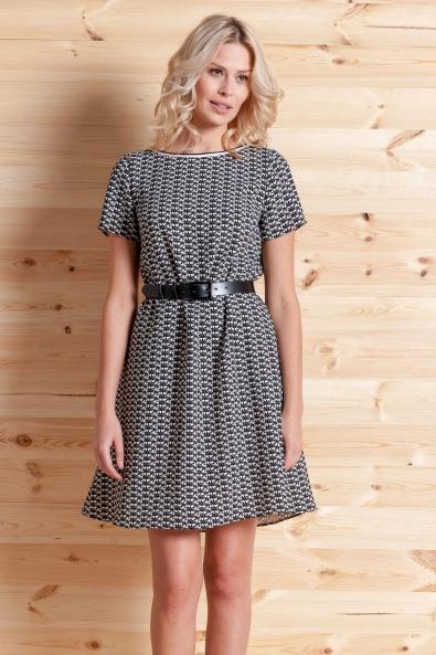 Sukienka Tuluza czarno-biała