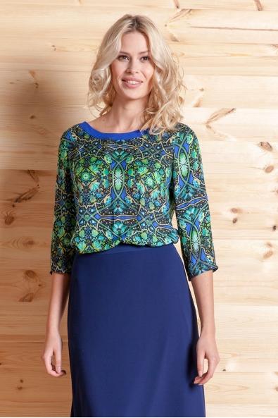 Bluzka Verdon zielono-niebieska