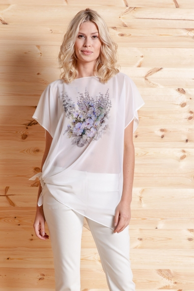 Biała bluzka - tunika