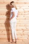 Spodnie Ibiza kość słoniowa