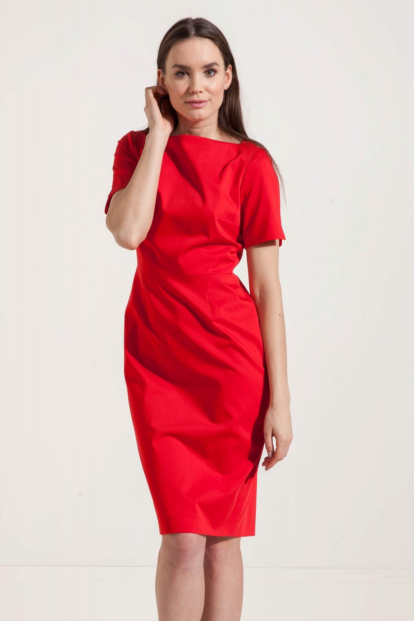 ffaf0de99 Bawełniana ołówkowa sukienka do pracy - Beata Cupriak sklep online