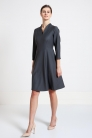 Sukienka z wełny garniturowej - serpentyn