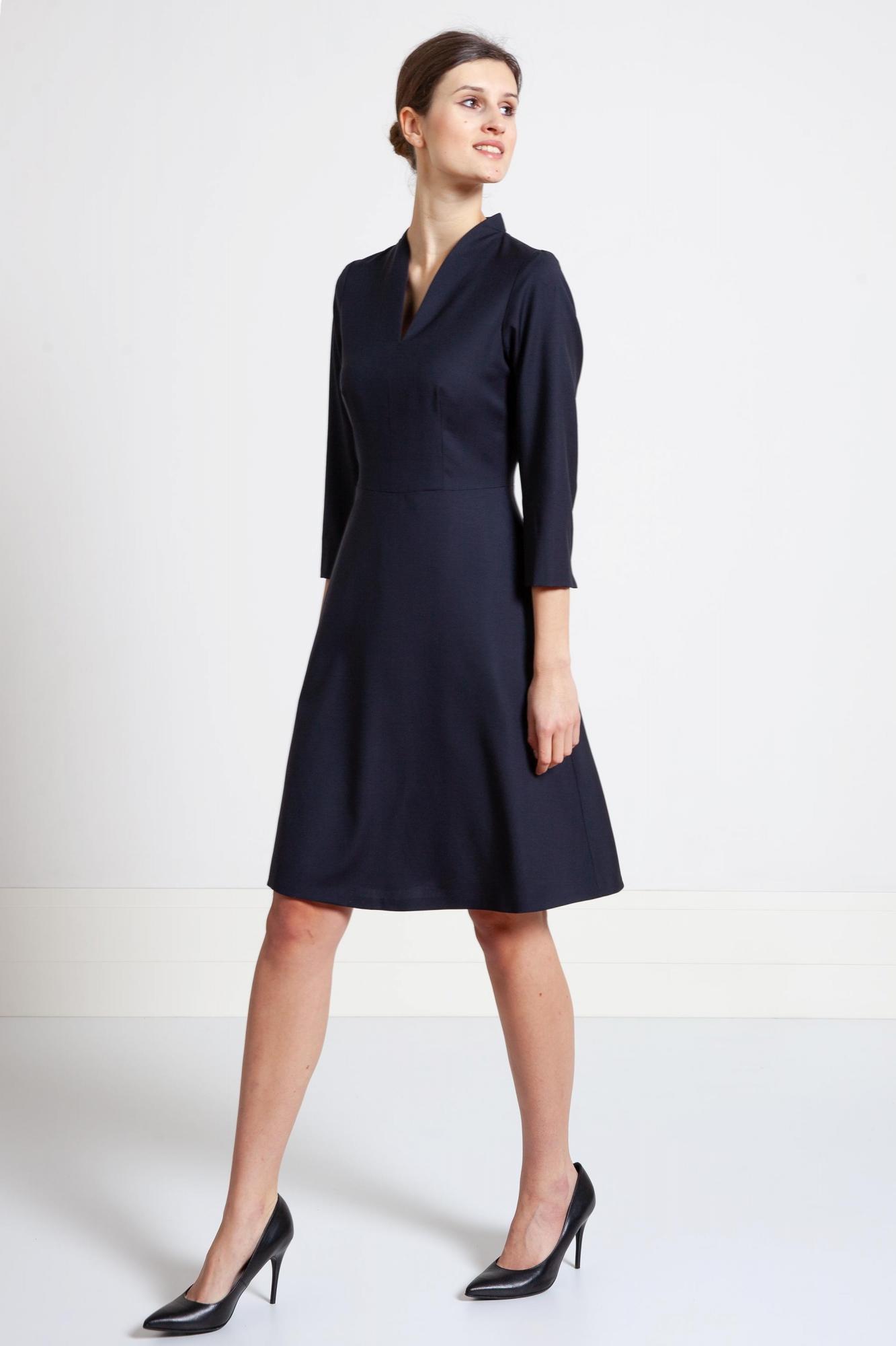 6ed65091d2 Szycie na miarę przez internet sukienka z cienkiej wełny.Beata Cupriak