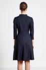 Sukienka z wełny garniturowej - nokturn