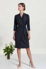Sukienka z cienkiej wełny garniturowej  nr 09 na zamówienie - Beata Cupriak