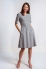 Sukienka klusia w kratkę