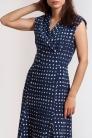 Sukienka Norah z granatowej wiskozy w kosteczki