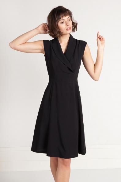 3e45c69f00 Czarna sukienka z wiskozy z kopertowym dekoltem. Mała czarna - Beata  Cupriak ...