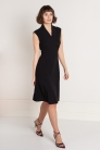 Sukienka Norah z wiskozy czarna