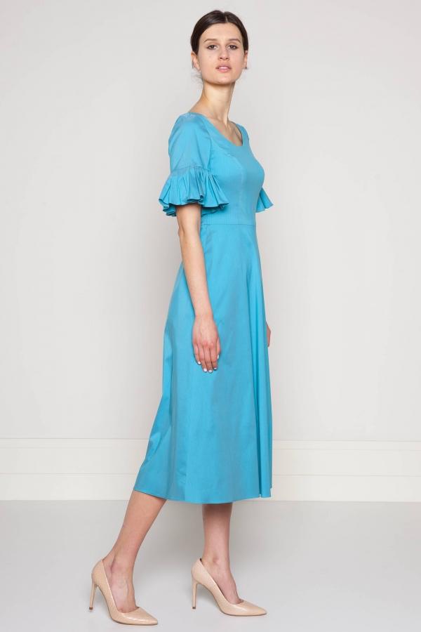 Sukienka z elastycznego jedwabiu. Szycie na miarę. Beata Cupriak