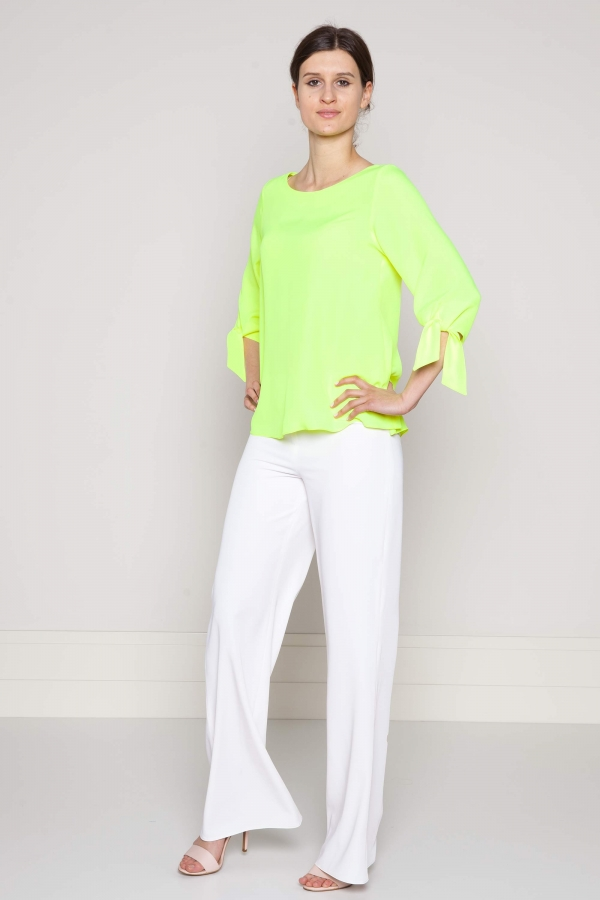 bluzka tropikalna z jedwabiu