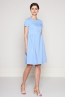 sukienka z popeliny z zakładkami