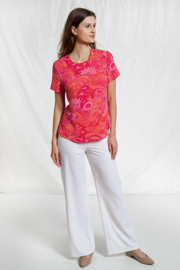 Bluzka Reef różowa z wiskozy. Beata Cupriak