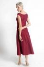 Sukienka w kolorze wina, szyta na miarę. Beata Cupriak