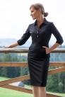 № 46 Sukienka polo czarna z wełny garniturowej, szyta na miarę. Beata Cupriak
