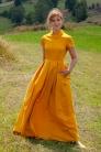 № 43 Sukienka z bawełny powlekanej, szyta na miarę. Beata Cupriak