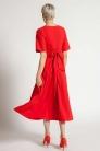 Sukienka Salma długa koralowa z wiązaniem
