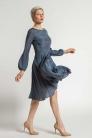 Sukienka z jedwabiu, z koła, szyta na miarę. Beata Cupriak