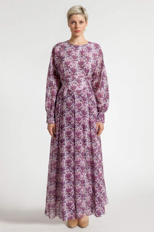 № 42 Sukienka z jedwabiu z kimonową górą, szyta na miarę. Beata Cupriak