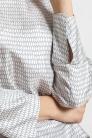 Jedwabna bluzka we wzór cloisonné