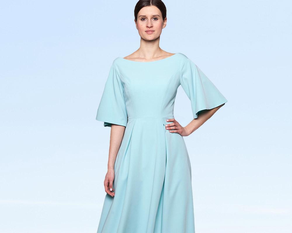 Długa wizytowa sukienka na miarę